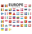 Glossy button flags - Europe Original colors vector image