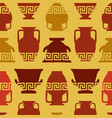 greek vases meander ornament seamless pattern vector image