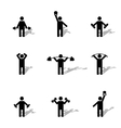 Set athlete silhouettes vector image