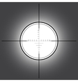 Sniper scope over black background vector image
