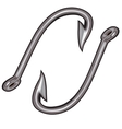 Steel fish hooks for catching big sea creature vector image