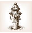 Vintage fire hydrant sketch vector image
