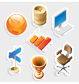 Sticker icon set for business and money vector image