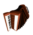A Retro Accordion Isolated on White Background vector image vector image