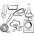 washing items set vector image