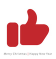red mitten thumb up icon vector image