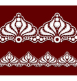 Seamless penwork lace border Realistic vector image