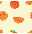 Seamless pattern of Orange vector image vector image