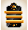 gold awards vector image