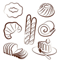 bakery set 2 vector image