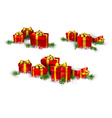 Heaps of gift boxes Realistic set vector image