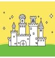 Hand drawn doodle magic castle vector image