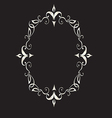 Abstract Floral Frame In Victorian Style vector image