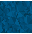Blue Polygonal Mosaic Background for Design vector image