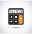 a simple calculator vector image
