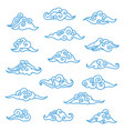 asian clouds set vector image