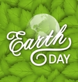 Concept Background for Earth Day Holiday vector image