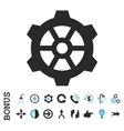 Gear Flat Icon With Bonus vector image