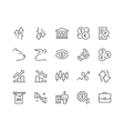 Line Stock Market Icons vector image