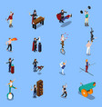 magic show people isometric set vector image