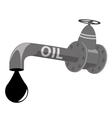 Oil pipe vector image