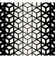 Seamless Rhombus Cube Halftone Pattern vector image