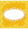 Floral pattern card background vector image