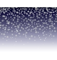 snowflakes fall vector image vector image