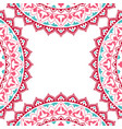 oriental pattern with mandala vector image vector image