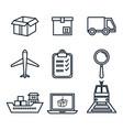 shipping logistics design vector image