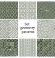 Set of ornamental patterns for textures vector image