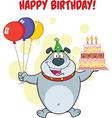 Happy birthday dog cartoon vector image vector image