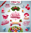 Holiday collection for a Christmas theme vector image vector image