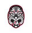 maori tiki moko tattoo mask vector image
