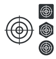 Aiming mark icon set monochrome vector image