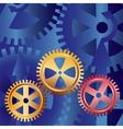 golden gears vector image vector image