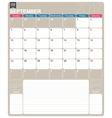 English calendar 2017 vector image vector image