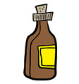 bottle cartoon vector image vector image
