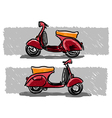 Red scooter vector image