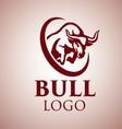 bull logo 5 vector image