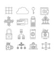 bitcoin monochrome icons of investment vector image