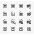 Black Calendar Icons vector image