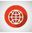 globe technology internet design icon vector image