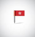 hong kong flag pin vector image