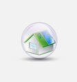 house renewable bubble water clear vector image