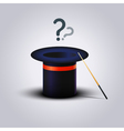 Mystery Magic Hat With Wand Question vector image