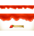 Red sweet drops seamless vector image