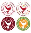 running rooster farm vintage labels set vector image