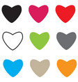 set hearts icon on white background hearts sign vector image