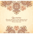 Vintage floral background in Indian mehndi style vector image